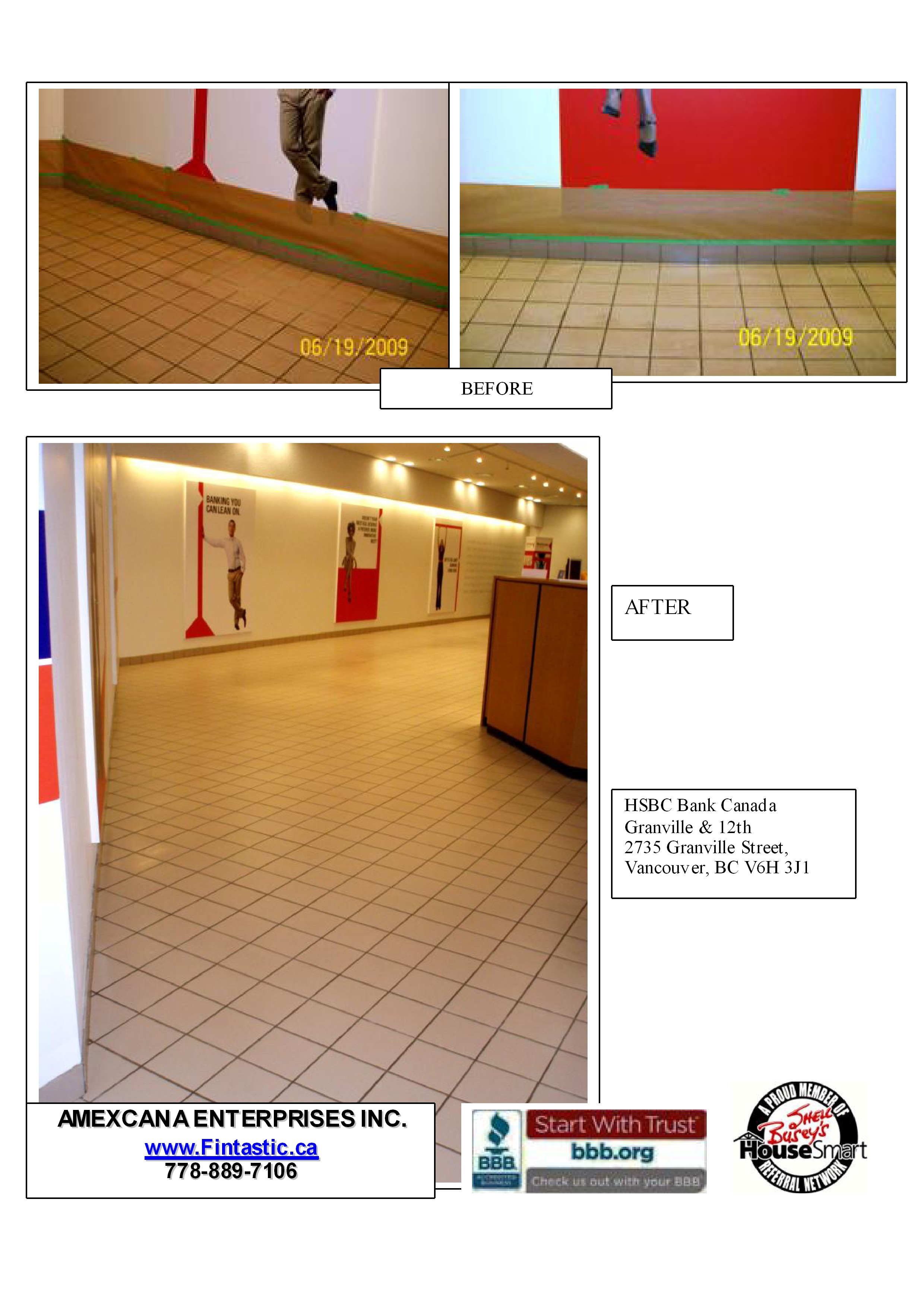HSBC Granville - Tile Cleaning & Sealing
