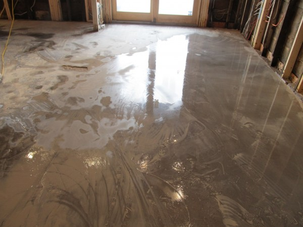 Concrete Grinding At A Vancouver Home Floors Refinishing